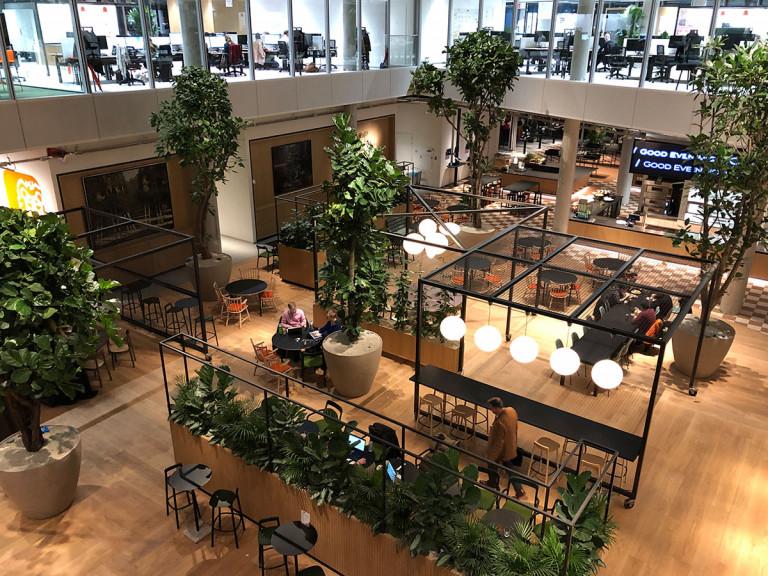 Stalen Interieur, Hoofdkantoor ING Amsterdam, Bovenaf