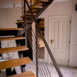 Hoek van een Salen trap een Woning