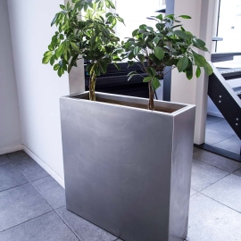 Foto van: Hoge RVS Plantenbak indoor, in kantoor